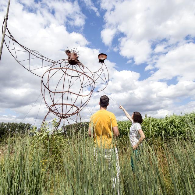 Houplin-Ancoisne, Mosaïc Le jardin des cultures ©CRTC Hauts-de-France - Sébastien Jarry