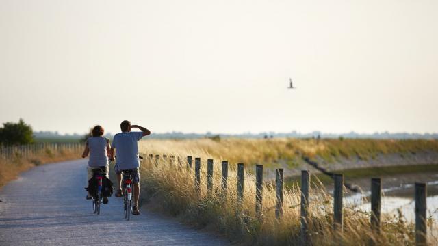 Le Crotoy_balade à vélo en bord de mer ©CRTC Hauts-de-France - Guillaume Crochez