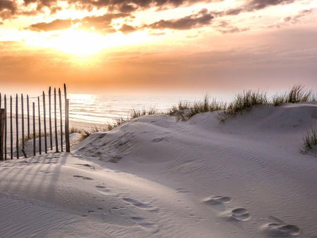 Le Touquet-Paris-Plage dunes au soleil couchant © CRTC Hauts-de-France - Ishak Najib