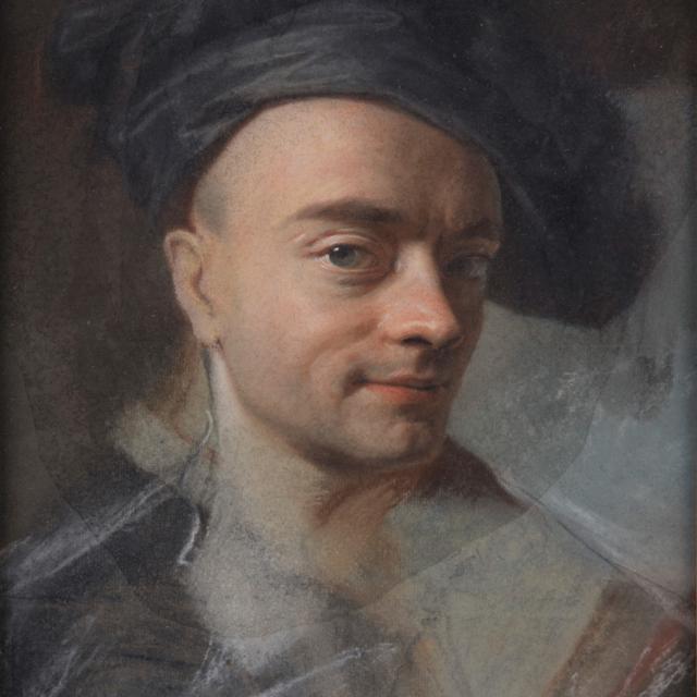 Saint-Quentin _ musée des Beaux-Arts Antoine Lécuyer _ autoportrait de Maurice Quentin de La Tour © Luc Couvée
