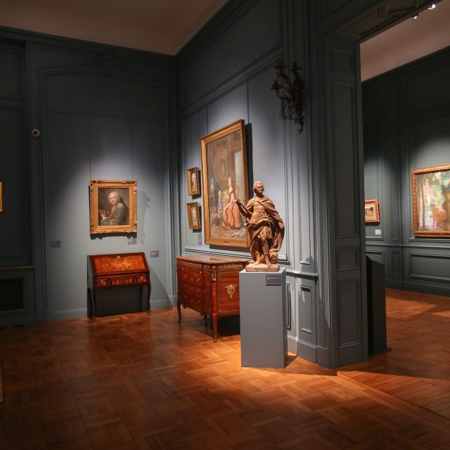 Saint-Quentin _ musée des Beaux-Arts Antoine Lécuyer _ la salle des pastels © Luc Couvée