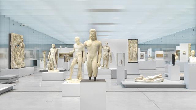 Lens _ Musée du Louvre Lens _ La Galerie du Temps © Philippe Chancel