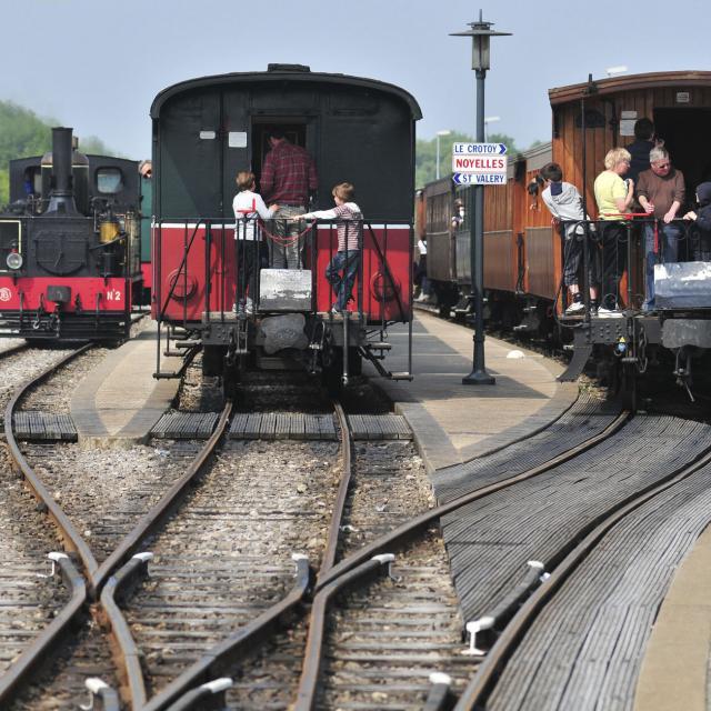 Le Crotoy_Saint-Valéry-sur-Somme_Traversée de la baie de Somme en petit train à vapeur © CRTC Haut-de-France - Nicolas Bryant