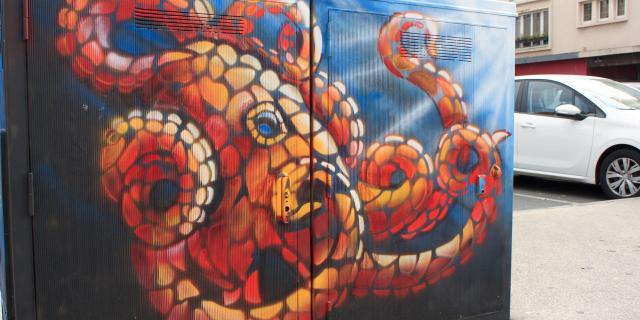 Boulogne-sur-Mer _ street art _ œuvre de FLAG © L. de Rocquigny - OTBCO