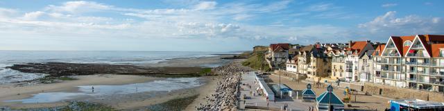 Wimereux la digue et le front de mer © Pas-de-Calais Tourisme