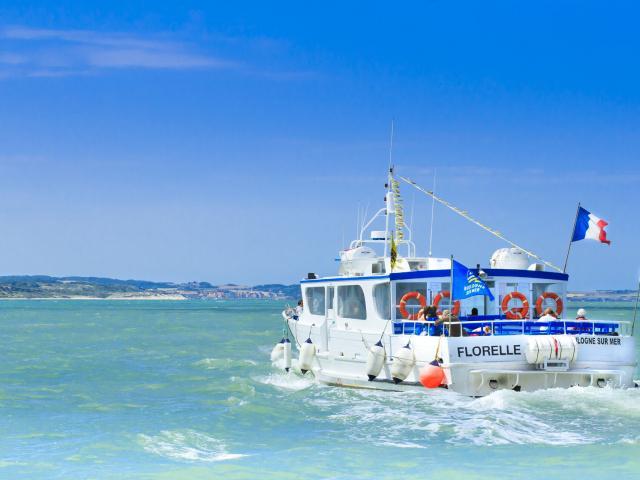 le florelle, bateau promenade au départ de boulogne sur mer, site des caps, cap blanc nez
