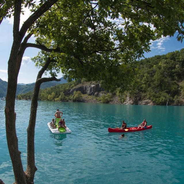 Canoe Lac Serre Poncon Alpes Lenaturographe