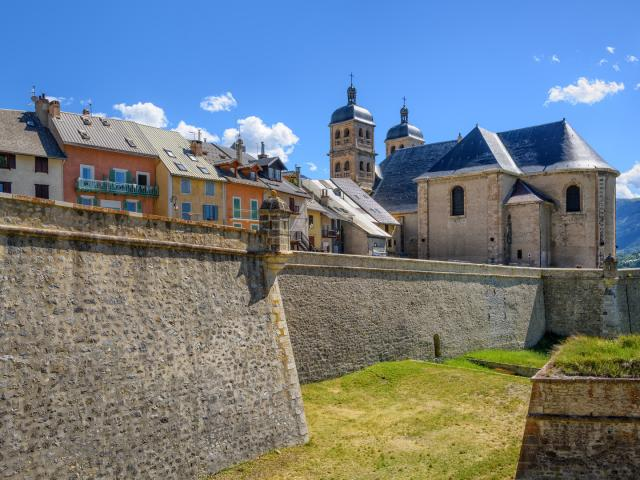 The Walls and the Old Town of Briancon, France
