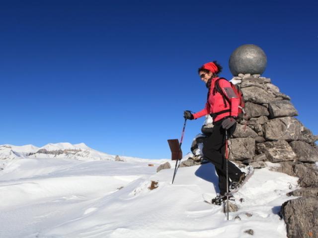 Raquettes Neige Valberg Alpes Dr