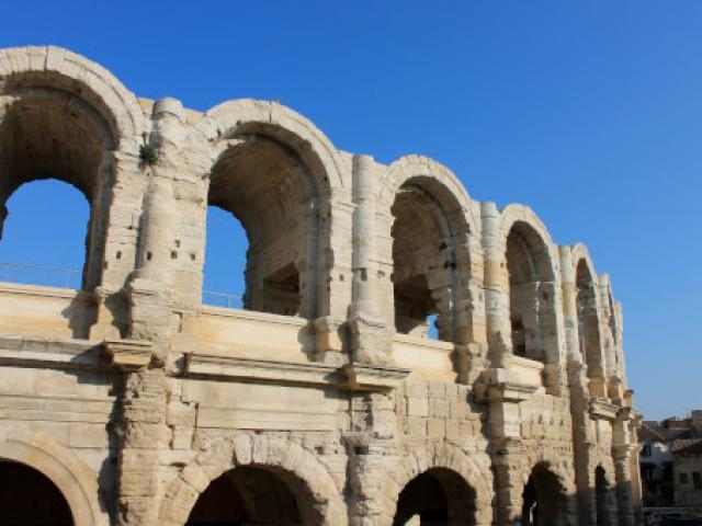 Vue Arenes Arles