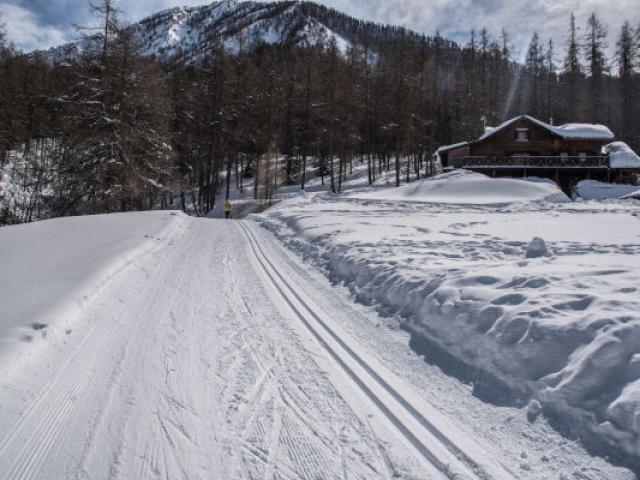 Ski De Fond Colmars Alpes Mmolle