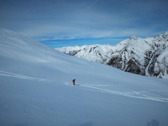 Skieur Crevoux Alpes Mdiduca