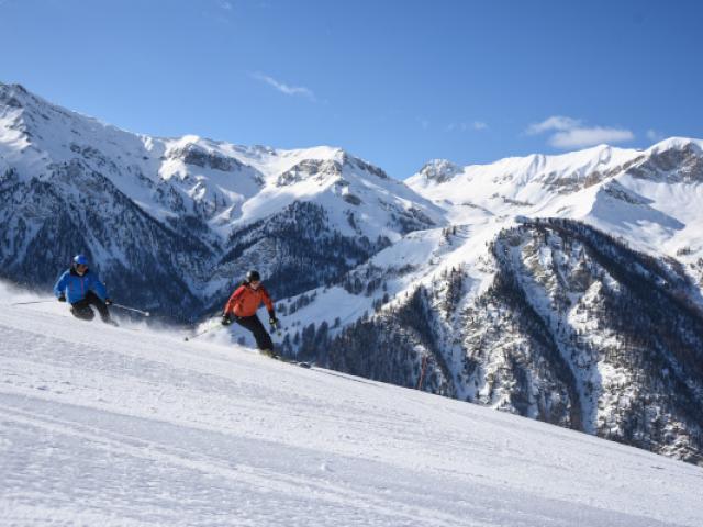Skieurs Molines Alpes Mmolle