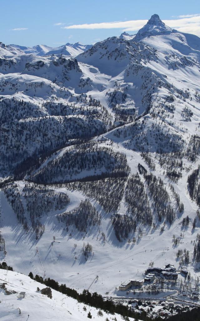 Station Montgenèvre en hiver dans les Alpes du Sud