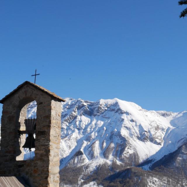 Station d'Orcières dans le Champsaur en hiver