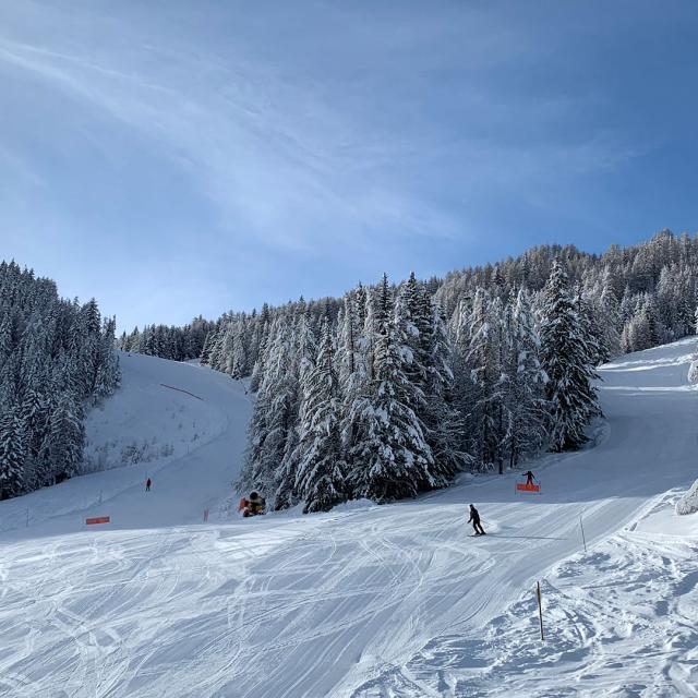 Station Pra Loup en hiver dans les Alpes du Sud