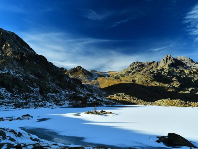 Vallee Des Merveilles en hiver dans les Alpes