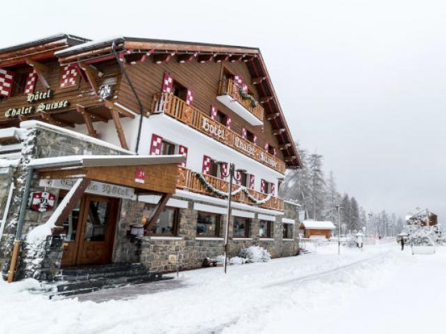 Le Chalet Suisse en hiver à Valberg