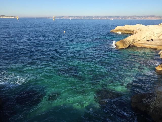 Malmousque, vue sur la Côte Bleue et l'archipel du Frioul