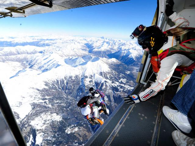 Parachute à Pra Loup