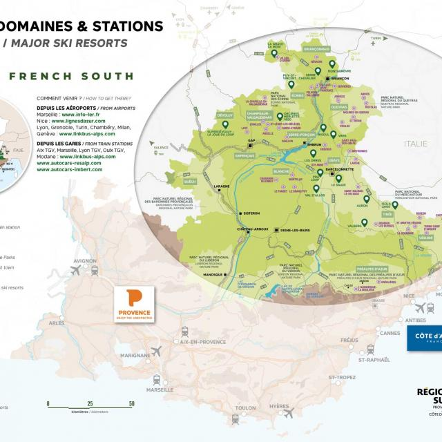 Alpes French South Map