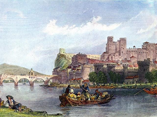 Avignon Au 19eme Siècle Gravure