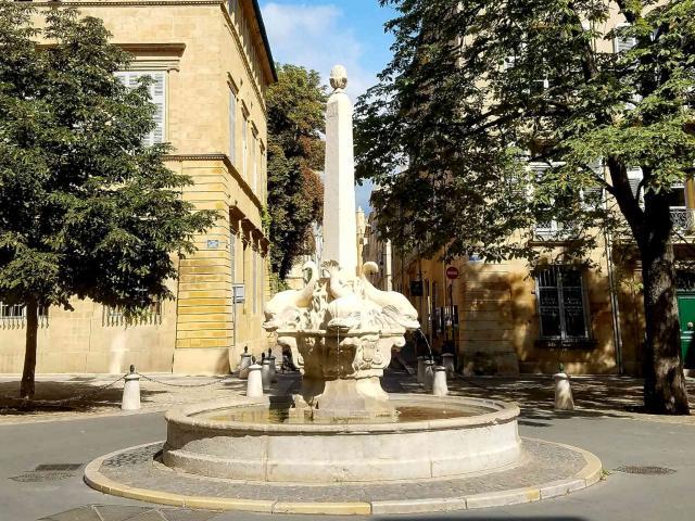 Fontaine Des 4 Dauphins Aix En Provence