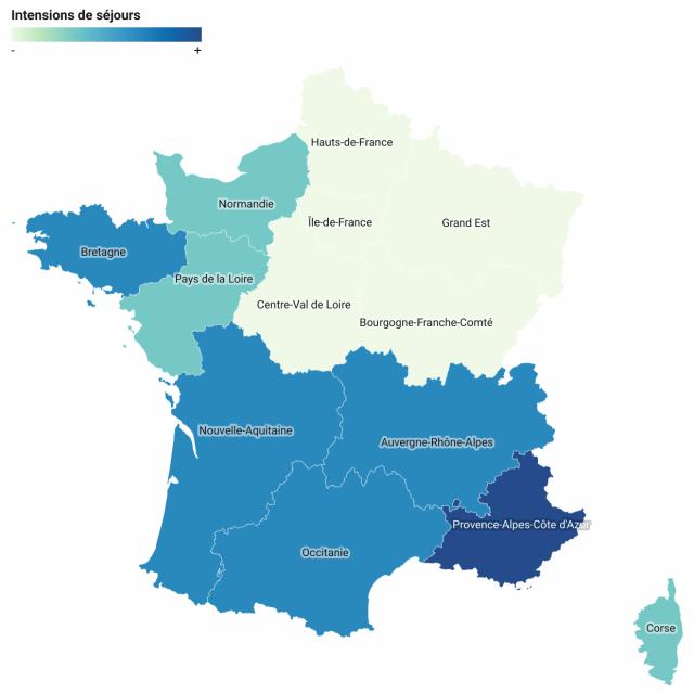 Destinations Envisagees Par Les Francais Cet Ete