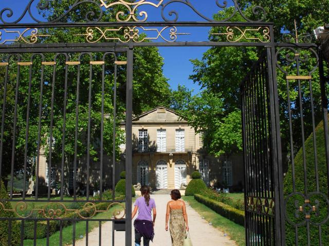 Entrée Château De Sauvan à Mane Ad04 Philippe Leroux