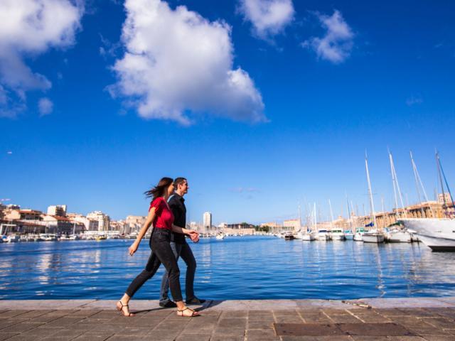 Couple Vieux Port Marseille