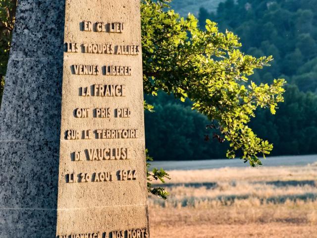 Monument commémoratif du débarquement de Provence, Vaucluse