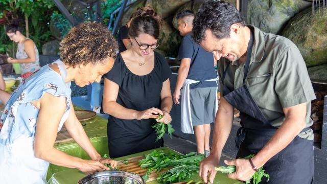 Atelier cuisine des Brèdes, La Réunion