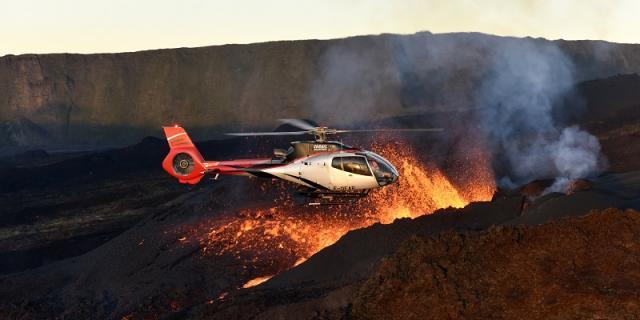 éruptions du volcan La Réunion
