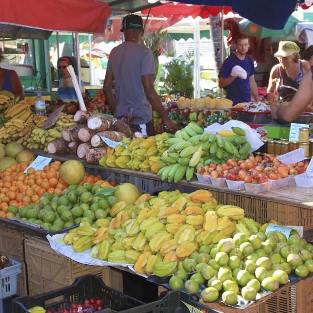 Marché, fruits et légumes, La Réunion