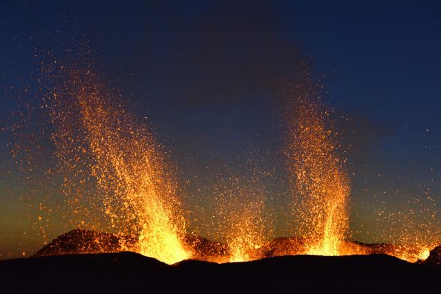 photo du volcan du piton de la fournaise
