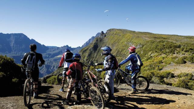 Vtt sur les hauts de La Réunion