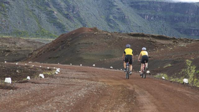 Vtt, plaine des sables, La Réunion