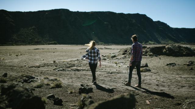 Plaine Des Sables- Volcan- Marcher Sur Mars