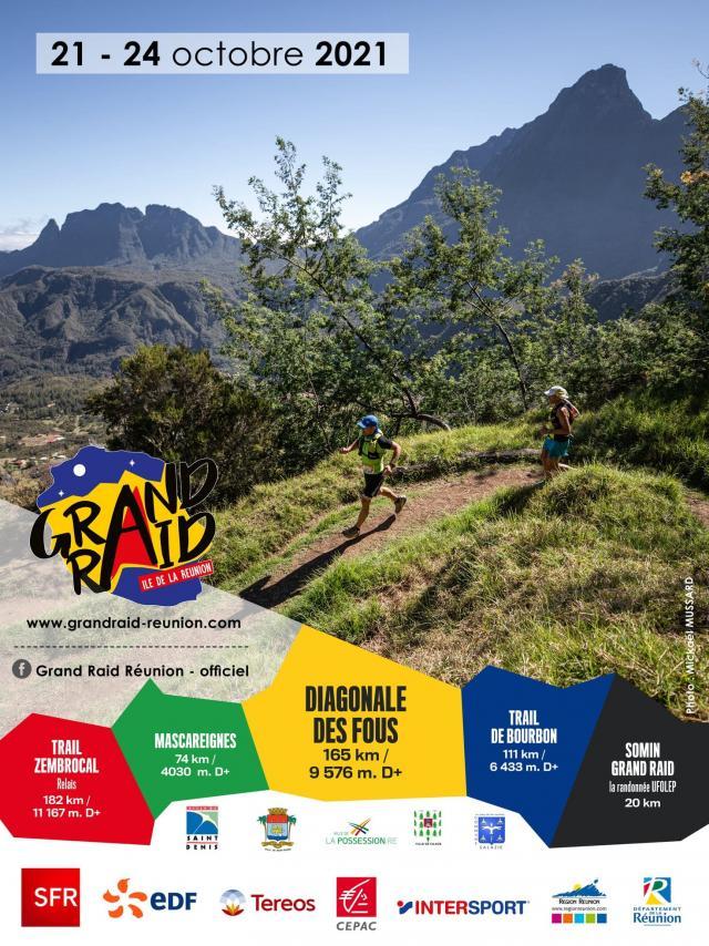 Affiche Grand Raid Réunion 2021