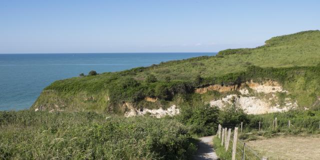 valleuse des Moutiers à Varengeville-sur-Mer (76) près de Dieppe sur la côte d'albâtre dans le pays de Caux