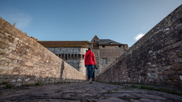 Photographe dans le château de Dieppe