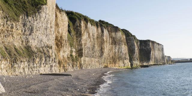 plage du Puys à Neuville-lés-Dieppe (76) sur la côte d'albâtre dans le pays de Caux