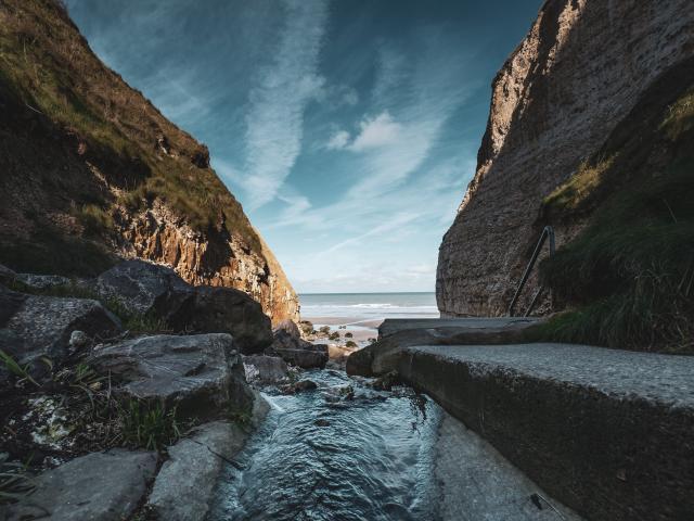 Vue de la Valleuse à Varengeville-sur-Mer