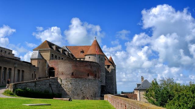 Château de Dieppe vue de la terrasse gazonnée