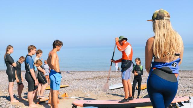 Nautisme Paddle Surfin Pourville Marie Joubert 12