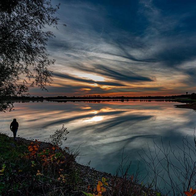 Crépuscule en Dombes
