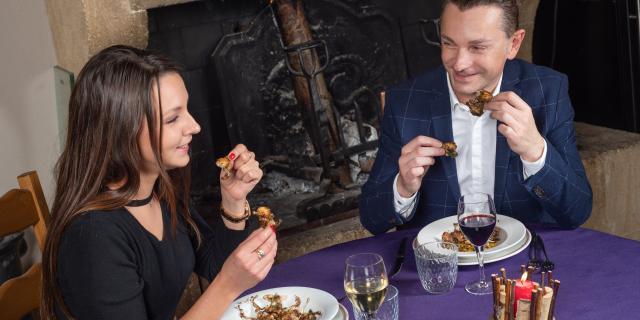 Manger des Grenouilles en Dombes à l'Auberge de Montessuy