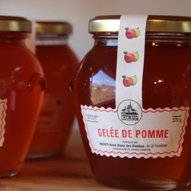 Gelée de pomme de l'Abbaye Notre Dame des Dombes au Plantay