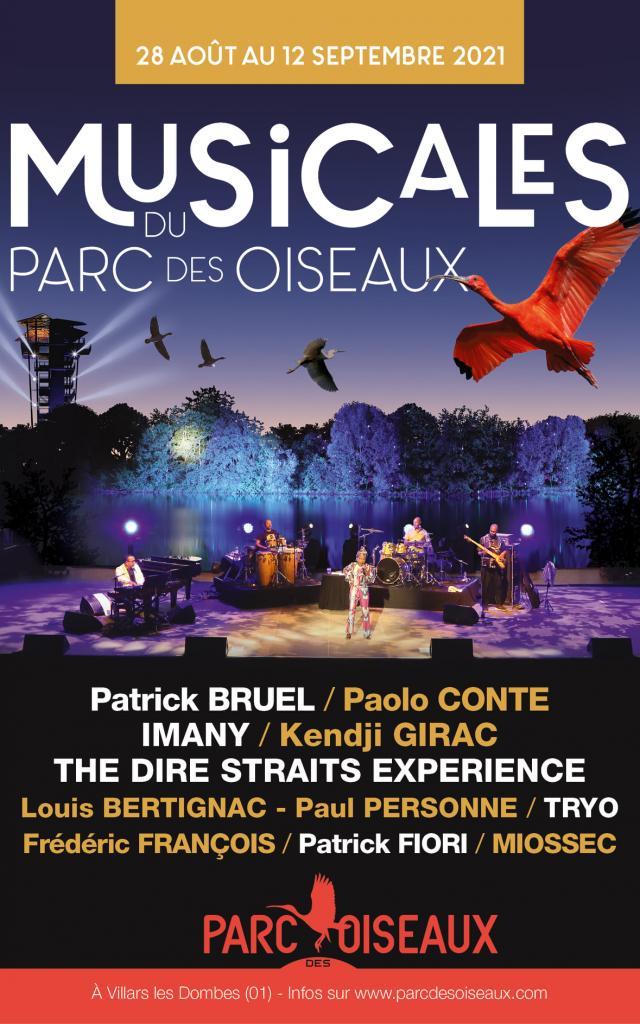 Affiche des Musicales du Parc des Oiseaux 2021