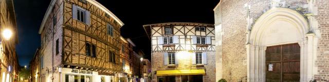 Quartier moyennageux de nuit Châtillon-sur-Chalaronne